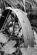 Farm Equipment Prints - Metal Wheel Print by Michael Peychich