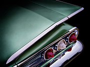 Collector Cars Digital Art Posters - Metalic Green Impala Wing Vingage 1960 Poster by Douglas Pittman