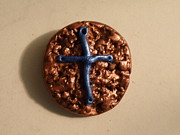 Paint Jewelry - Metallic Cross Pendant by Megan Brandl