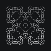 Modular Prints - Metallic Lace AXII Print by Robert Krawczyk