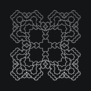 Modular Prints - Metallic Lace AXIV Print by Robert Krawczyk