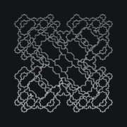 Modular Prints - Metallic Lace AXIX Print by Robert Krawczyk
