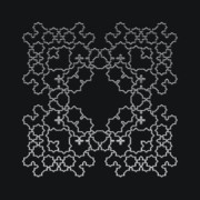 Modular Prints - Metallic Lace AXVI Print by Robert Krawczyk
