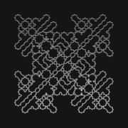 Modular Prints - Metallic Lace AXXXVI Print by Robert Krawczyk