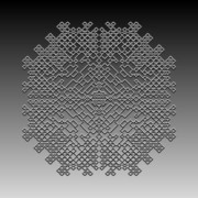 Modular Digital Art Prints - Metallic Lace CXXIX Print by Robert Krawczyk