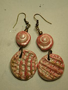 Wire-wrapped Jewelry Originals - Metallic Seashell Stamped Earrings 7 by Megan Brandl