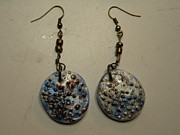 Stamped Jewelry - Metallic Seashell Stamped Earrings 8 by Megan Brandl