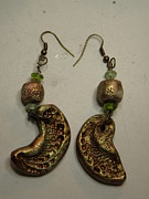 Lizard Jewelry - Metallic Shell Stamped Earrings 4 by Megan Brandl