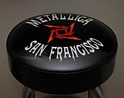 Metallica Posters - Metallica Bar Stool Poster by Rob Hans