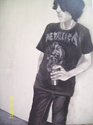Metallica Paintings - Metallica Boy by Lora Marsh