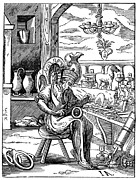 Metalworker Framed Prints - METALWORKER, 16th CENTURY Framed Print by Granger