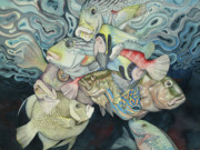 Tropical Fish Painting Originals - Metamorphose by Liduine Bekman