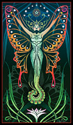 Art Nouveau. Visionary Digital Art - Metamorphosis by Cristina McAllister