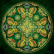 Insects Digital Art Metal Prints - Metamorphosis Mandala Metal Print by Cristina McAllister