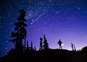 Stargazing Prints - Meteor Print by David Nunuk