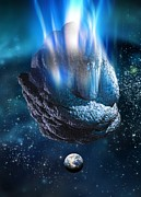 Meteor Art - Meteor Heading For Earth, Artwork by Victor Habbick Visions