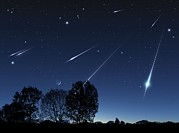 Meteor Shower Prints - Meteor Shower, Artwork Print by Detlev Van Ravenswaay