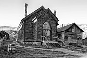 Methodist Posters - METHODIST CHURCH at BANNACK MONTANA GHOST TOWN Poster by Daniel Hagerman
