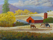 Plains Pastels Originals - Methow Ranch by James Geddes