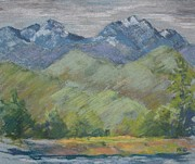 Methow Prints - Methow River Field Print by Marlene Kingman