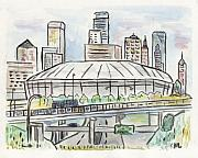 Minnesota Metal Prints - Metrodome Metal Print by Matt Gaudian
