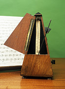 Music Score Metal Prints - Metronome Metal Print by Andrew Lambert Photography