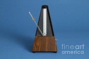 Music Time Metal Prints - Metronome Metal Print by Photo Researchers, Inc.