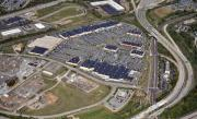 Construction Progress Aerial Photographs Framed Prints - Metroplex Shopping Center Chemical Road Plymouth Meeting Pennsylvania Framed Print by Duncan Pearson