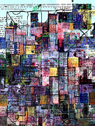Digital Collage Framed Prints - Metropolis 20 Framed Print by Andy  Mercer