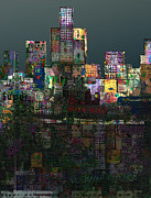 Crunch Prints - Metropolis after the storm Print by Andy  Mercer