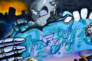 Graffiti Wall Art Framed Prints - Metropolis Framed Print by Fraida Gutovich