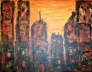 Sunsets And Sunrises  - Metropolis Sunset  by Mary Sedici