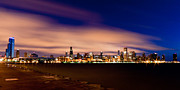 Skyline Framed Prints - Metropolitan Blues Framed Print by Daniel Chen