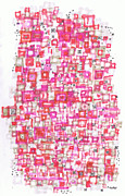 Traffic Drawings - Metropolitan Projection by Regina Valluzzi