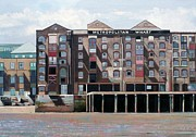 Industrial Painting Framed Prints - Metropolitan Wharf Framed Print by Peter Wilson
