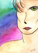 Watercolor Figure Painting Prints - Metrosexual Print by Donna Blackhall