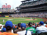 Baseball Stadiums Framed Prints - Mets game at CitiField Framed Print by Suhas Tavkar