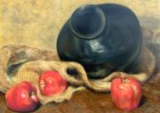 Signed Pastels Originals - Mexican Apples 3 by DEVARAJ DanielFranco