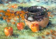 Signed Pastels Originals - Mexican Apples by DEVARAJ DanielFranco