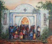 Leclair Prints - Mexican Church Print by Suzanne  Marie Leclair