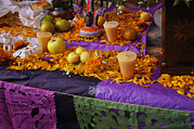 Religious Celebrations Prints - Mexican Decorations For Day Of The Dead Print by Gina Martin