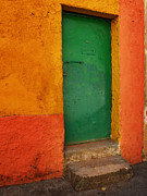Entryway Prints - Mexican Door 46 Print by Xueling Zou