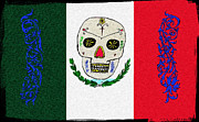 Day Of The Dead  Digital Art - Mexican Flag of the Dead by Bill Cannon