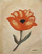 Stem Painting Prints - Mexican Flower Print by Marsha Heiken