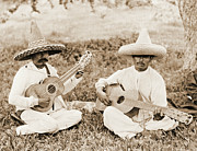 Padre Art Photos - Mexican Guitar Duet 1911 by Padre Art
