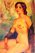 Nake Women Framed Prints - Mexican Indian Nude Beauty Framed Print by Bill Joseph  Markowski