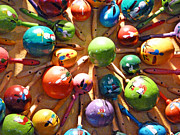 Bright Colors Metal Prints - Mexican Maracas Metal Print by Methune Hively
