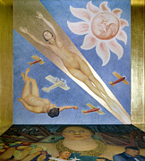American Aviation Art - Mexican Mural Painting by Granger