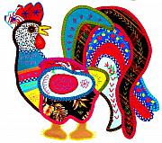 Image Gypsies Prints - Mexican Rooster by Darian Day Print by Olden Mexico