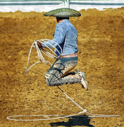Mexican Fiesta Framed Prints - Mexican Rope Dancer Framed Print by Clarence Alford